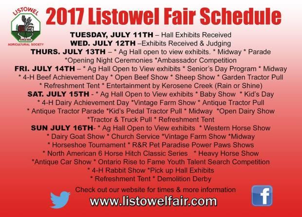 Fair Schedule