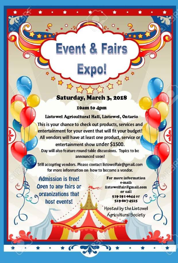 Event & Fair Expo poster - general admission